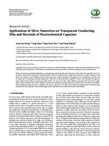 Applications of Silver Nanowires on Transparent Conducting Film and