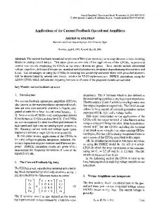 Applications of the current feedback operational amplifiers | SpringerLink