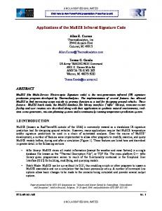 Applications of the MuSES Infrared Signature Code