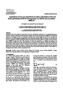 Applications of two new algorithms of cuckoo optimization (CO) and ...