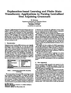 Applications to Parsing Lexicalized Tree Adjoining Grammars