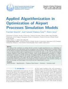 Applied Algorithmization in Optimization of Airport Processes ...
