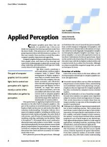 Applied Perception - Computer Science - Northwestern University