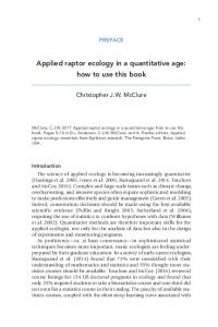 Applied Raptor Ecology