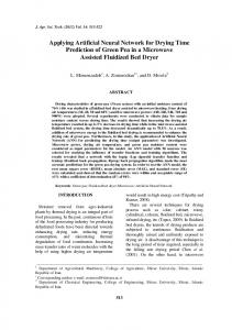 Applying Artificial Neural Network for Drying Time Prediction of Green ...