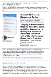 Applying System Dynamics Modeling To Foster a Cause-and-Effect ...