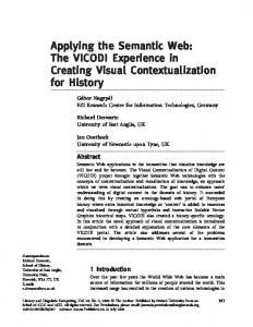 Applying the Semantic Web: The VICODI Experience in Creating ...