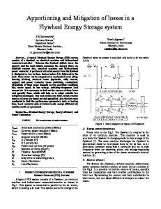 Apportioning and Mitigation of losses in a Flywheel ... - IEEE Xplore