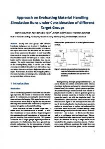 Approach on Evaluating Material Handling Simulation