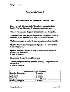 Examiner's approach to Paper P5 – update Relevant to