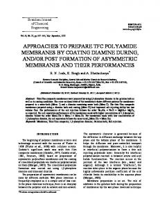 approaches to prepare tfc polyamide membranes by coating ... - SciELO