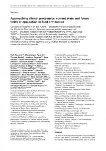 Approaching clinical proteomics: current state and ... - Semantic Scholar
