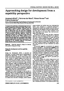 Approaching design for development from a ... - Current Science