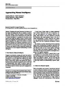 Approaching Manual Intelligence - Publications at Bielefeld University