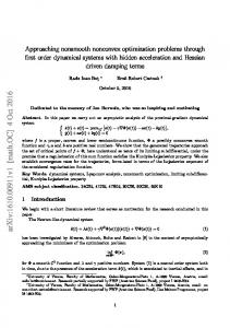 Approaching nonsmooth nonconvex optimization problems through ...