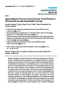 Approaching the Processes in the Generator Circuit Breaker at ... - MDPI