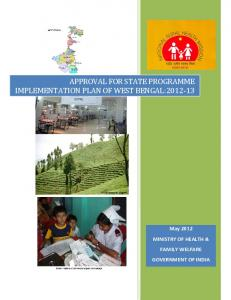 approval for state programme implementation plan of west bengal ...