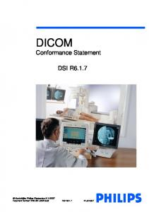Approved DICOM Conformance Statement DSI R6.1.7