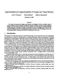 Approximability and Inapproximability of Dodgson ... - Semantic Scholar