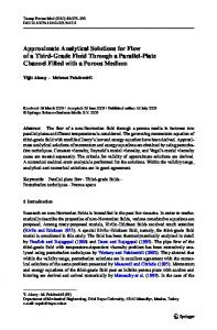 Approximate Analytical Solutions for Flow of a Third ... - Springer Link