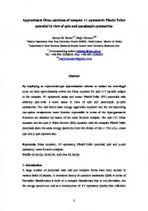 Approximate analytical solutions of the Dirac equation with ... - arXiv