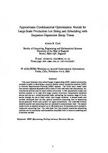 Approximate Combinatorial Optimization Models for