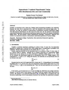 Approximate D-optimal Experimental Design with ... - arXiv