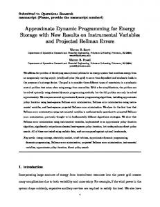 Approximate Dynamic Programming for Energy ... - Princeton University