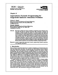 Approximate Dynamic Programming for Large ... - Cornell University