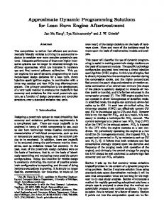 Approximate Dynamic Programming Solutions for ... - EECS @ Michigan