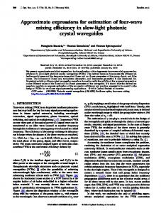 Approximate expressions for estimation of four-wave ... - OSA Publishing