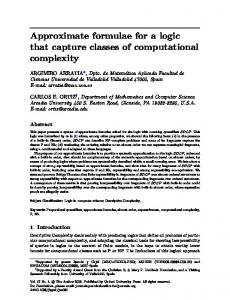 Approximate formulae for a logic that capture ... - Oxford Journals