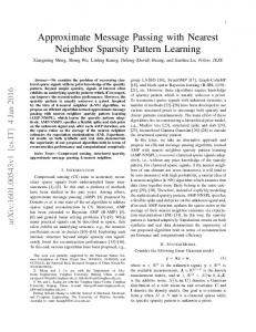 Approximate Message Passing with Nearest Neighbor Sparsity ... - arXiv