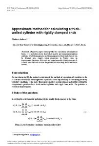 Approximate method for calculating a thickwalled cylinder with rigidly