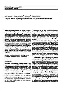 Approximate Topological Matching of Quadrilateral Meshes