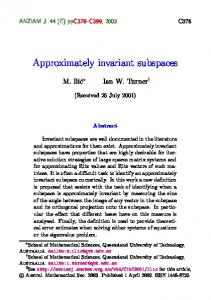 Approximately invariant subspaces
