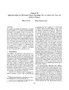 Approximating the Minimum Degree Spanning Tree to within One from ...