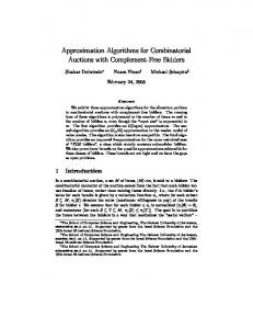 Approximation Algorithms for Combinatorial Auctions with ... - CiteSeerX