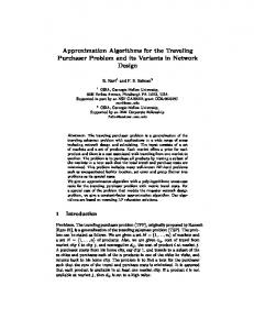 Approximation Algorithms for the Traveling ... - Semantic Scholar