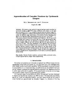 Approximation of Complex Numbers by Cyclotomic Integers - CiteSeerX