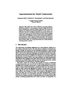 Approximations for Model Construction - Microsoft