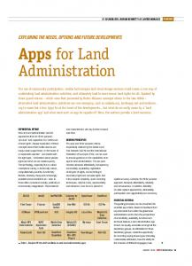 Apps for Land Administration