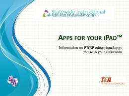 APPS YOUR I AD - Stephen F. Austin State University