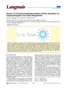 (APTES) Silanization of Superparamagnetic Iron Oxide Nanoparticles