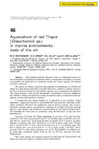 Aquaculture of red tilapia Oreochromis sp. in ... - Archimer - Ifremer