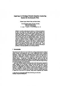 AquaLog: An Ontology-Portable Question ... - Semantic Scholar