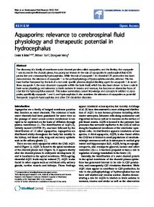 Aquaporins: relevance to cerebrospinal fluid