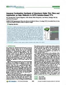Aqueous Combustion Synthesis of Aluminum Oxide Thin Films and ...