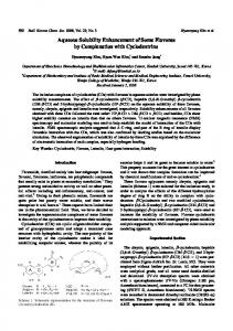 Aqueous Solubility Enhancement of Some