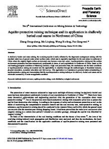Aquifer-protective mining technique and its application in shallowly ...